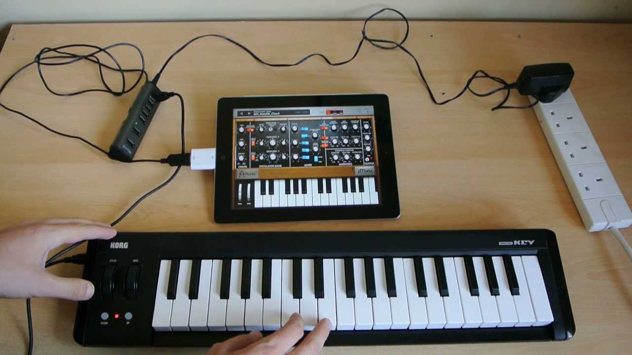 How To Connect Korg Microkey To Ipad 37 And 61 Micro Key