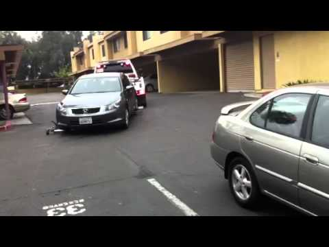 how to get an illegally parked car towed