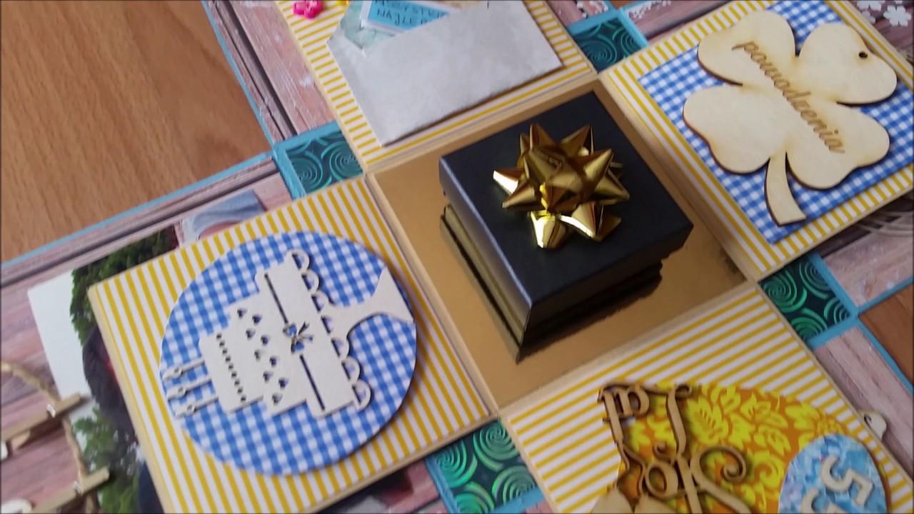 Topnotch Exploding BOX Explosion Box Scrapbooking Urodzinowe Pudełko OP34