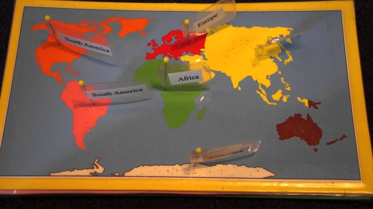 7 Continents Song and Montessori Map Work  YouTube