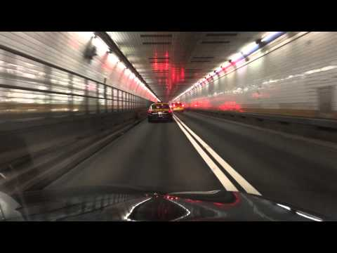 Driving through the Holland Tunnel into NYC