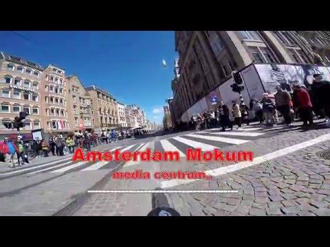 Amsterdam centrum.  Een stukje door het centrum, met de fiets.   1-5-2016.