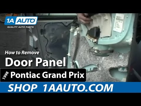 How To Install Replace Remove a Door Panel on a 97-03 Pontiac Grand Prix 1AAuto.com - YouTube  sc 1 st  YouTube & How To Install Replace Remove a Door Panel on a 97-03 Pontiac Grand ...