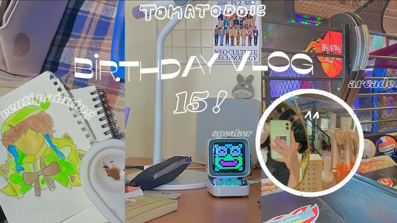 birthday vlog ☻ : manga shopping, genshin cupcakes, nct album, divoom speaker + going to the arcade