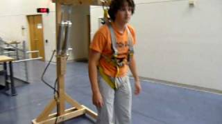 Team EZ Strider Weight Reduction Example with a person