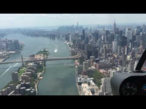 Helicopter tour over Manhattan