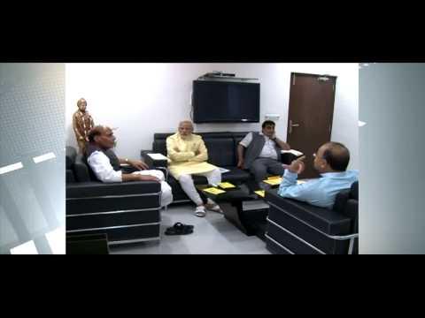 Narendra Modi  meets Rajnath Singh, Arun Jaitley and Nitin Gadkari