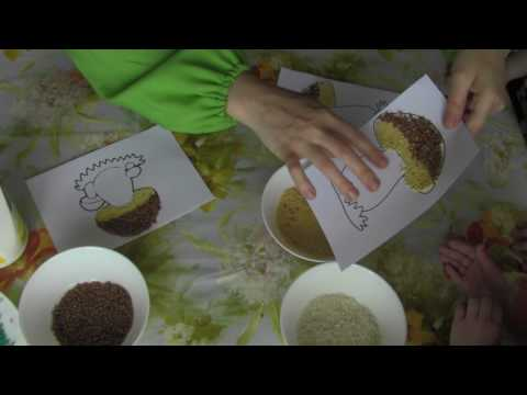 Поделки из крупы и макарон своими руками для детей