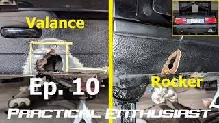 Project E30 / Ep. 10 / Rust Repair - Rear Valance and Rocker Panel