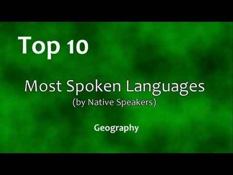 Top 10: Most Spoken Languages (by Native Speakers)