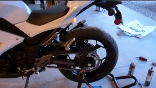 How to Clean and Lubricate Your Motorcycle Chain - 2013 Ninja 300