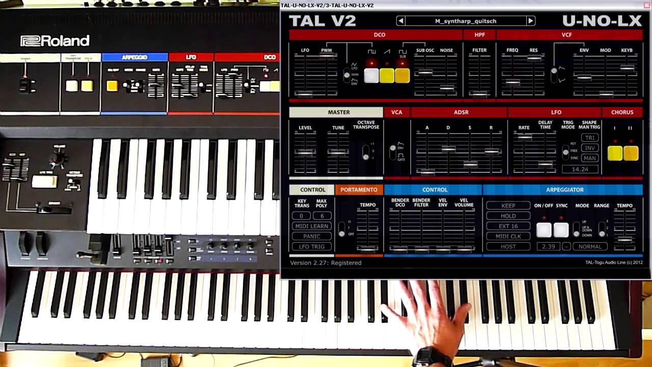 Roland Juno- 6/60 vs TAL U-NO-LX v2 27