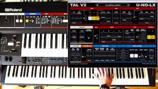 Roland Juno- 6/60 vs TAL U-NO-LX v2.27