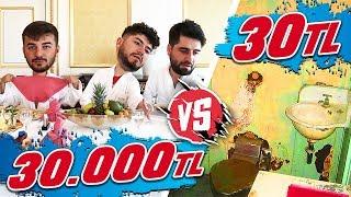 30.000 TL OTEL VS 30 TL'LİK OTEL !!