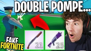 "I played DOUBLE POMPE on this ""FAKE"" of Fortnite, it's way too strong ... (cheat)"