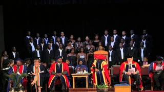 VUT Choir Performing During VUT Autumn Graduations 2014