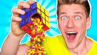 Making OBJECTS out of CANDY! Learn How To Make DIY Edible Candy Items vs Real Food Challenge thumbnail
