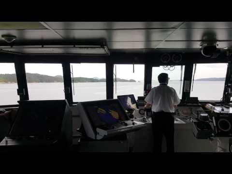 BC FERRY from the Bridge