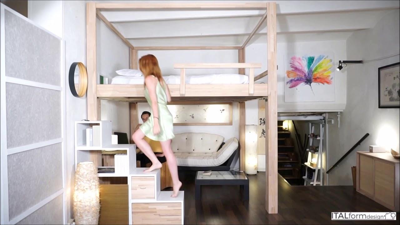 Loft Bed New York Small Apartment