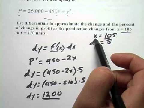 c70cc18888d Calculus: Applied Problems with Differentials - YouTube