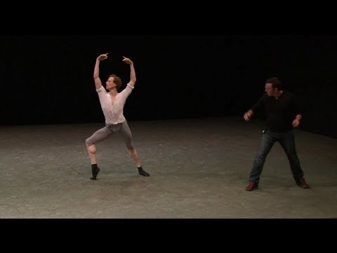 Alexei Ratmansky rehearses 24 Preludes with The Royal Ballet's Edward Watson