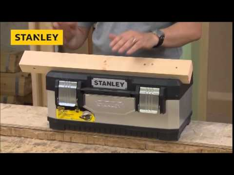 STANLEY GALVANISED TOOL BOX 60CM 23 INCH 1 95 619 Sealants and Tools Direct