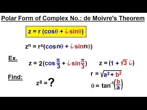 precalculus polar coordinates 28 of 35 complex numbers de moivre 39 s theorem youtube. Black Bedroom Furniture Sets. Home Design Ideas