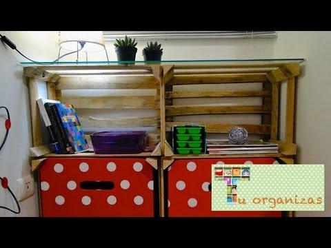 Tu organizas transforma estante de caixotes youtube - Estantes reciclados ...