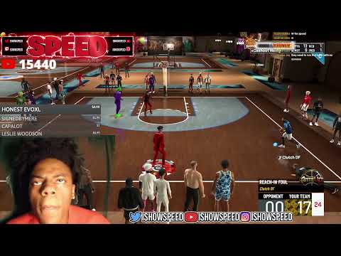 IShowSpeed Vs Luck DF $300 POT WAGER $$$! NBA 2K21 LIVE STREAM!