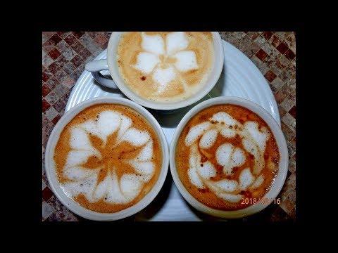 ЛАЙФХАК С КОФЕ. РИСУНОК БЕЗ КОФЕМАШИНЫ / Latte Art Tutorial: 3 Topping Patterns