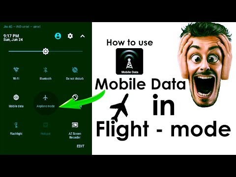 How To Use Mobile Data In Flight-mode || New Trick 2018 || DDT