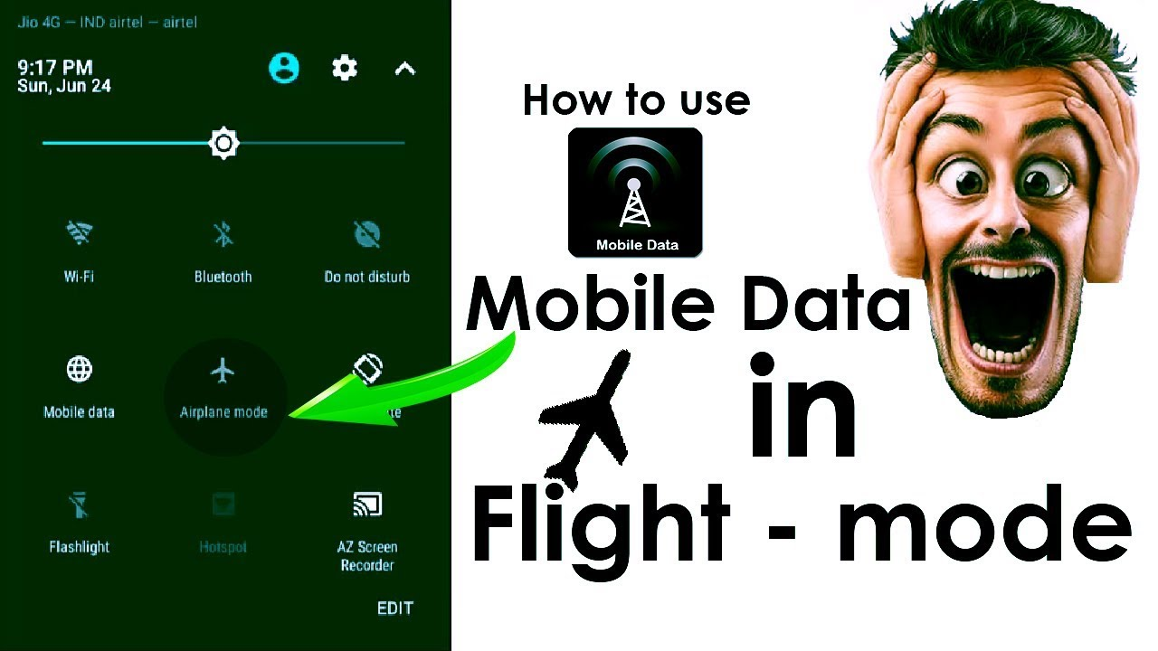 How To Use Mobile Data In Flight Mode New Trick 2018 Ddt Youtube