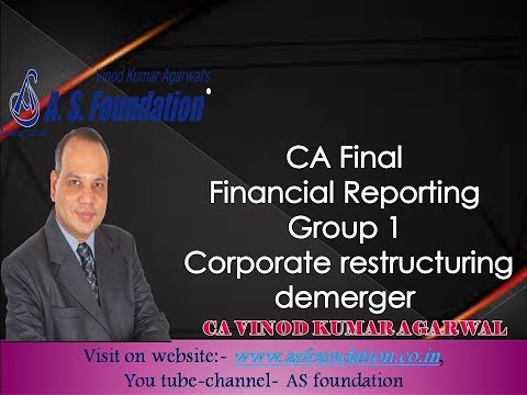 CA Final Financial Reporting Group 1 Corporate restructuring