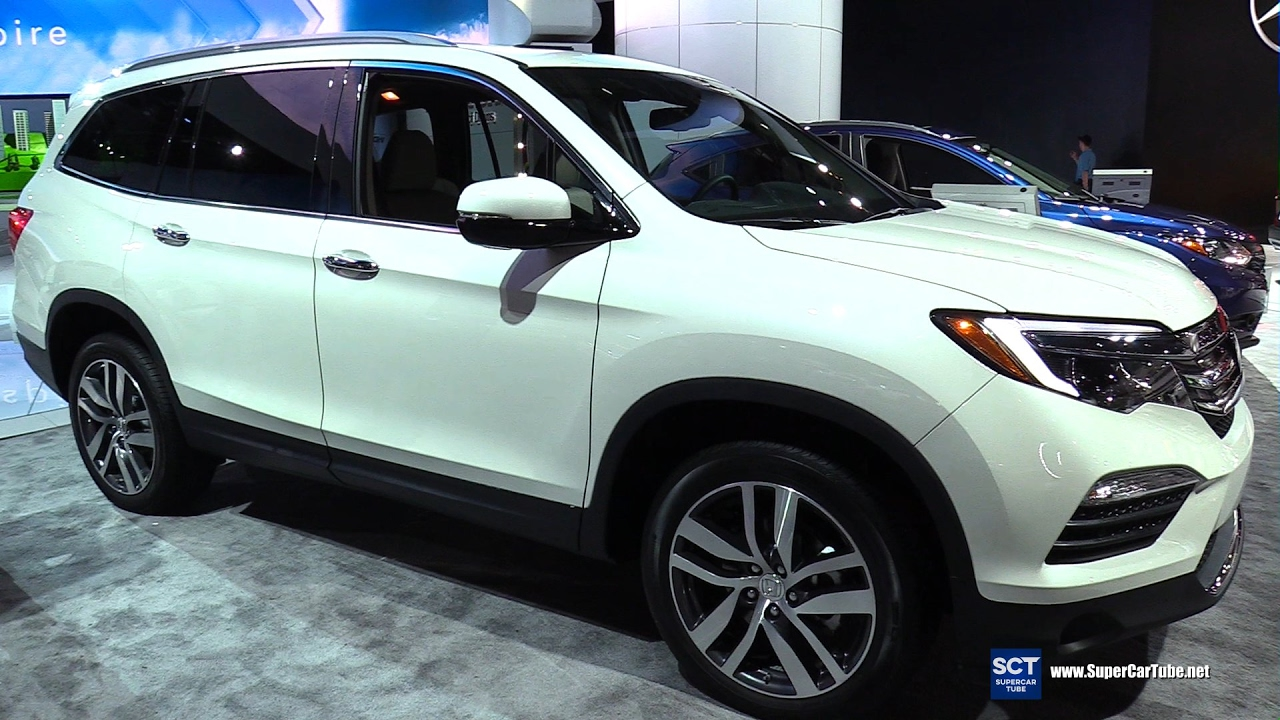 honda pilot elite awd exterior  interior walkaround  detroit auto show youtube