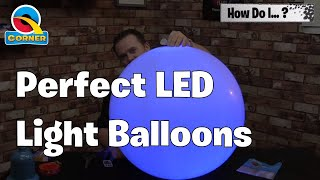 Create Balloons with LED lights inside