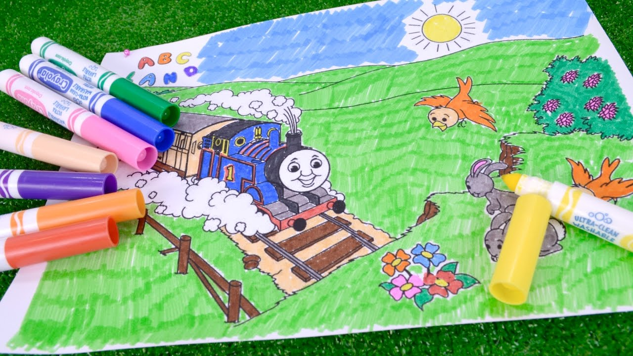 how to coloring and drawing thomas and friends coloring page