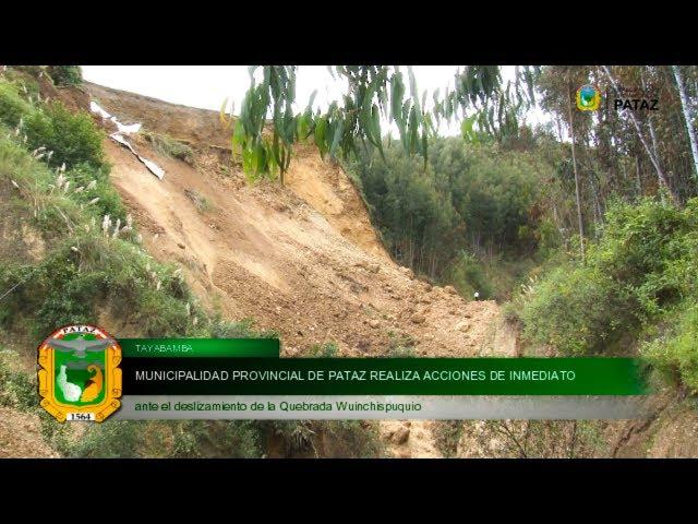 Acciones ante deslizamiento de Quebrada