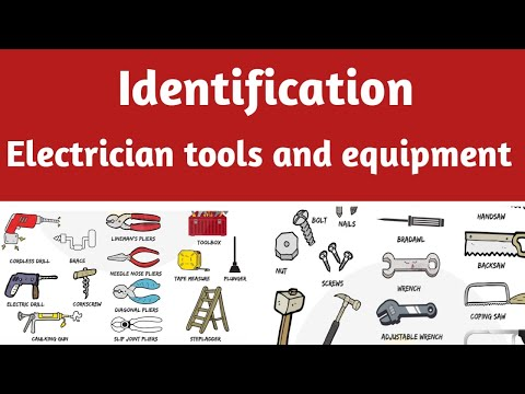 Electrician Trainees Tools And Equipment List - 1 || 100 Tools And Equipment