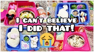 I really messed up😭 Bento styled School Lunches PLUS what she ate! - Back to school week 3