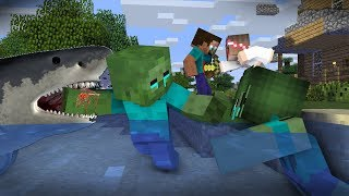 Monster School : RIP Zombie & Herobrine | Zombie Life 9 - Minecraft Animation
