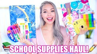 Huge back to school supplies haul! + giveaway!
