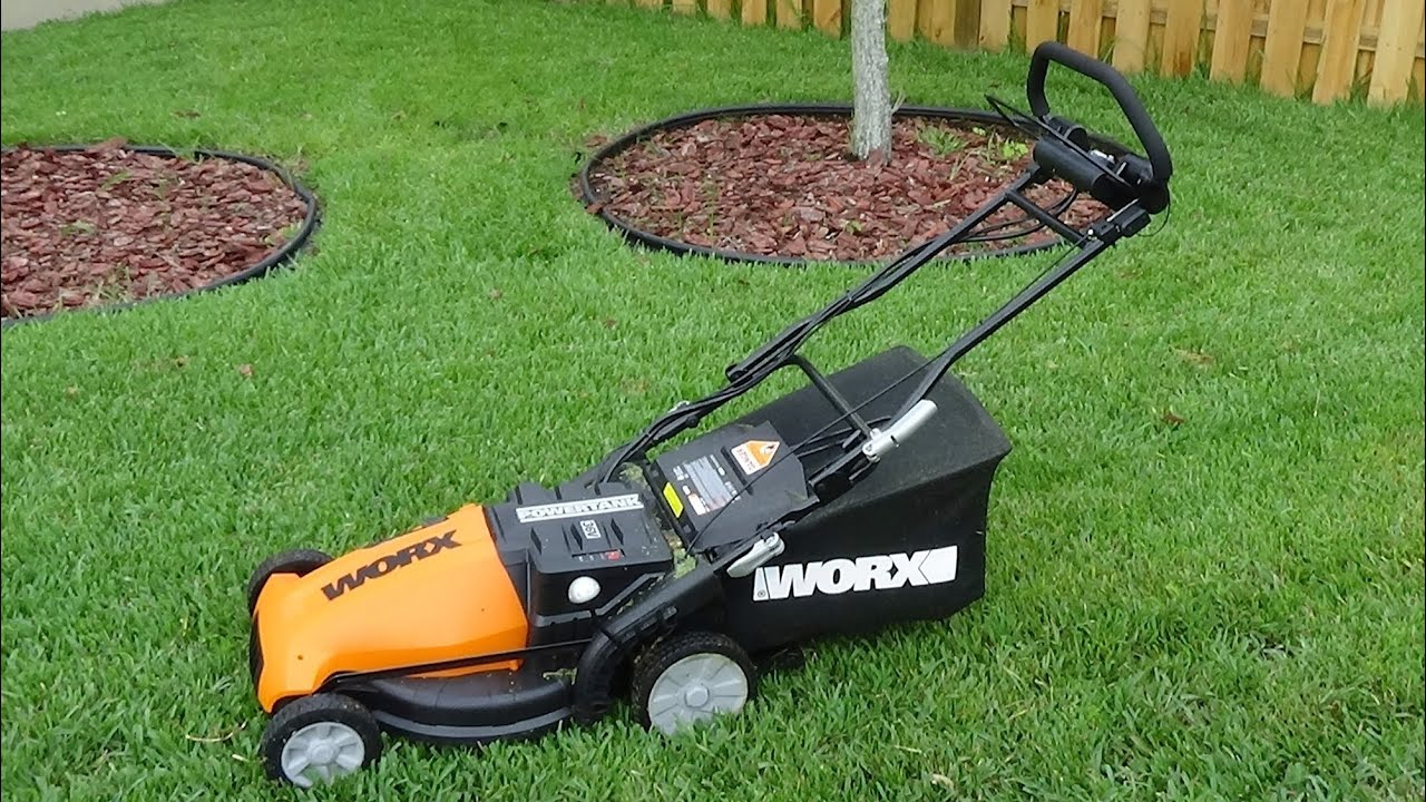 Worx Wg788 19 Inch 36 Volt Cordless 3 In 1 Lawn Mower With