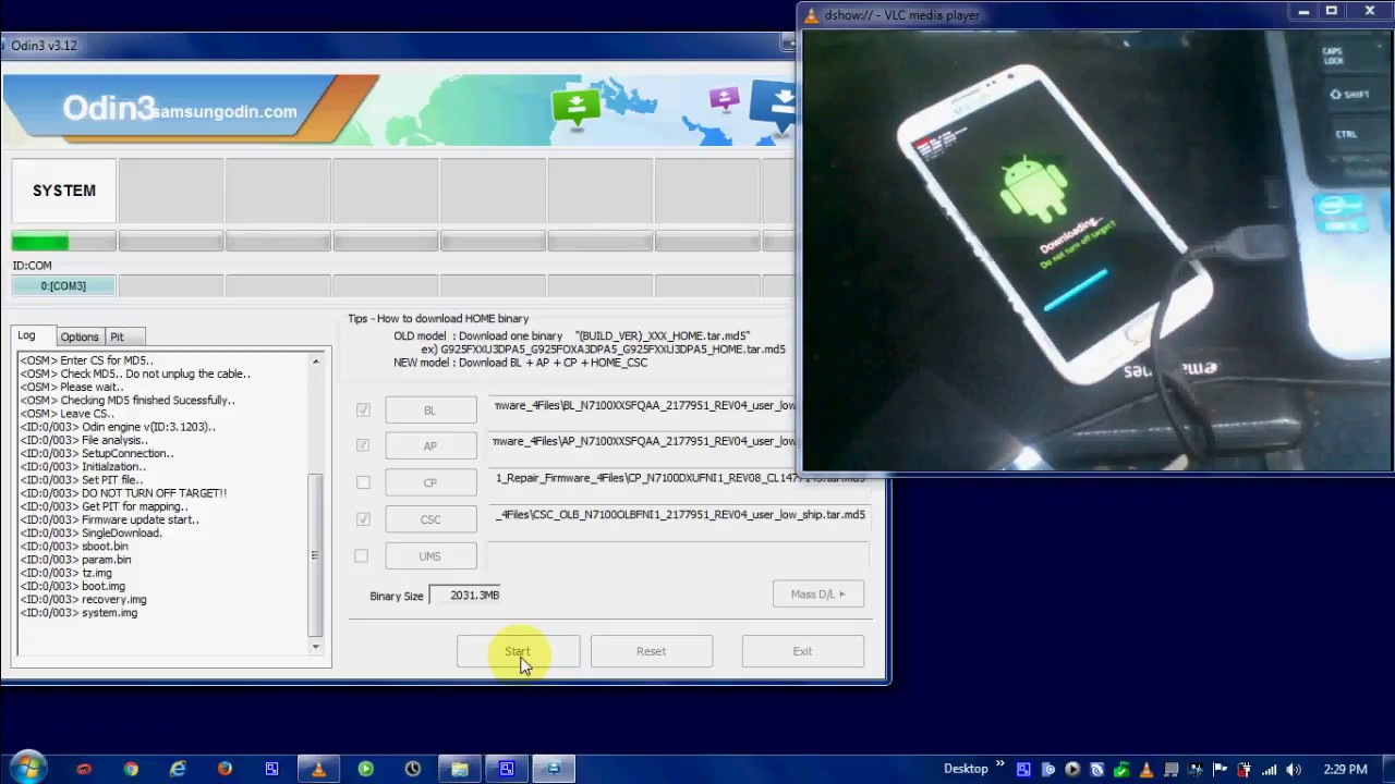 Cara Flashing Samsung Galaxy Note 2 GT N7100 & Download Firmware repair  Samsung