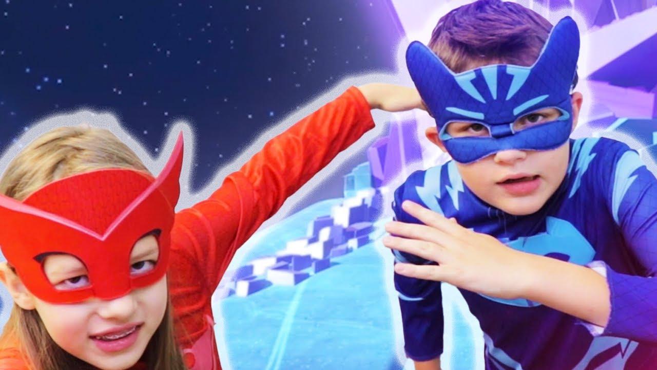 Download PJ Masks in Real Life 🌙 Heroes on the Moon 🌙 PJ Masks vs. Luna Girl   PJ Masks Official