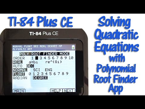 Ti 84 plus ce solving quadratic equations with the polynomial root.