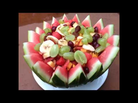watermelon fruit bowl designs - YouTube