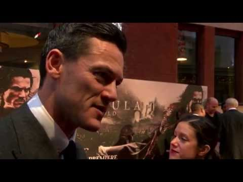 Luke Evans Interview at UK film premiere of Dracula Untold