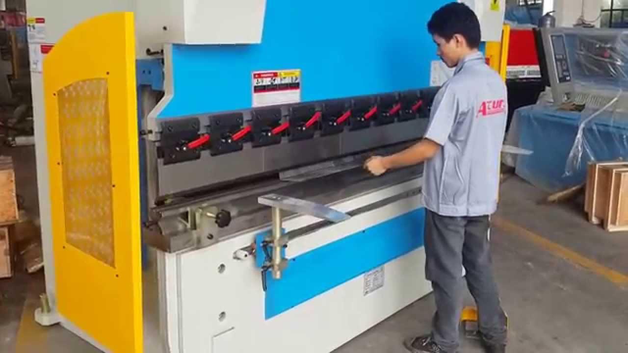 3 Axis Cnc Presske 100 Tons Delem Da52s Cnc System On Accur Press Electro Hydraulic Servo You