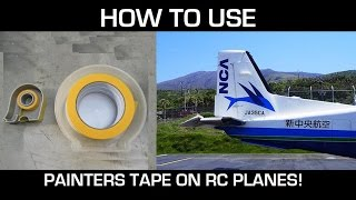 How to use Painter's Tape for RC airplanes!