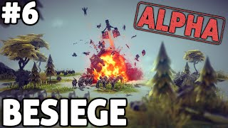 [06] Let's Play Besiege Gameplay Part 6 - Double Catapult! - Besiege Alpha Gameplay